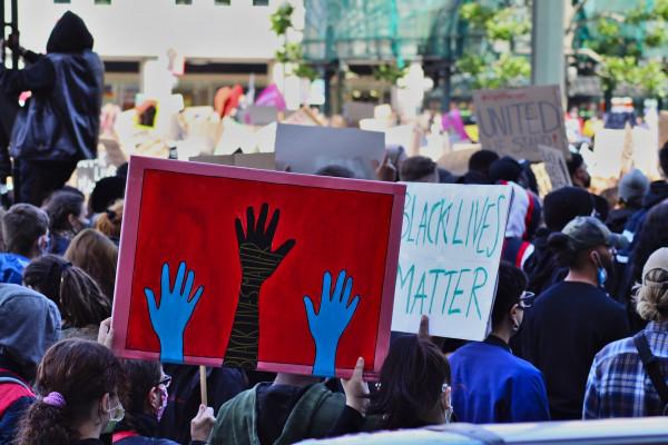 Black Lives Matter placards