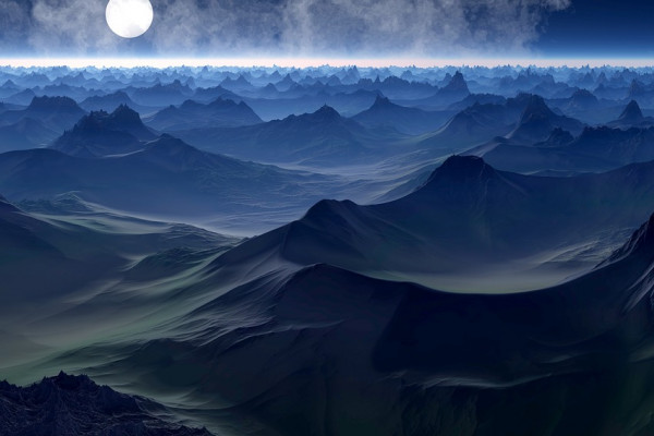 Artists impression of the surface of an exoplanet