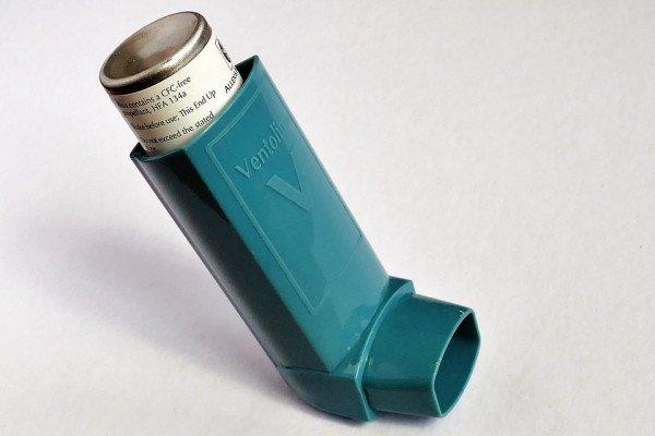 Salbutamol asthma inhaler