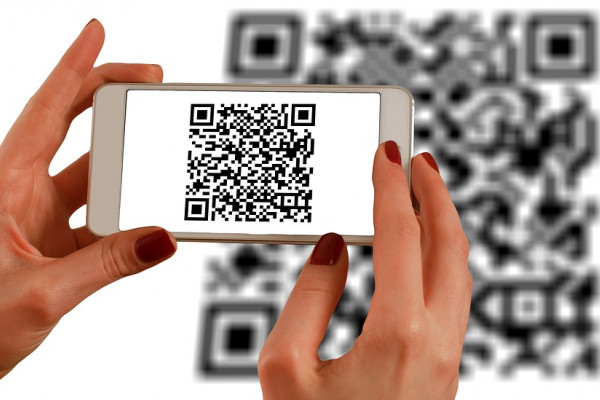 QR code being read by phone