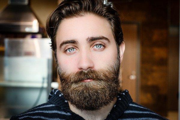 A bearded man's face