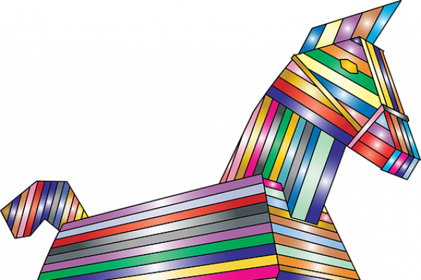Cartoon Trojan Horse