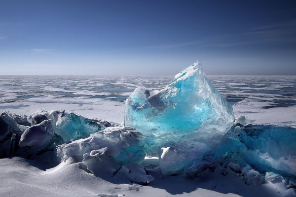 Ice floes in Siberia