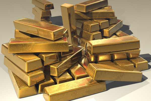 Image of a pile of gold ingots