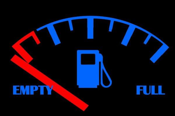 A fuel gauge for a car