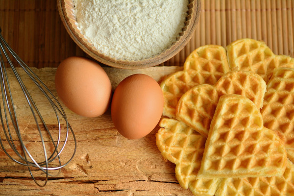 Eggs, Whisk and Waffles