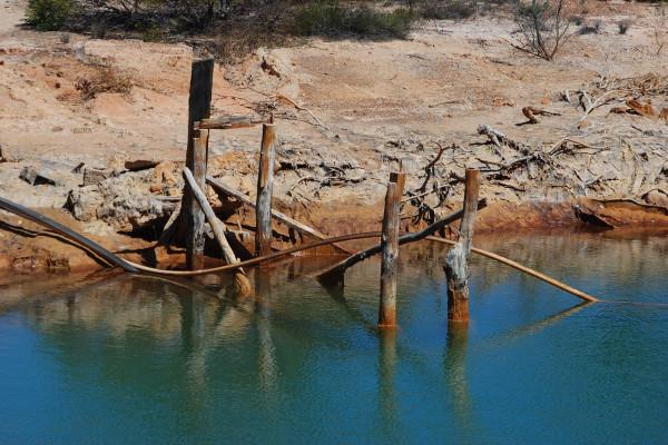 A copper mining site, in Australia