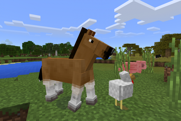 A horse from Minecraft