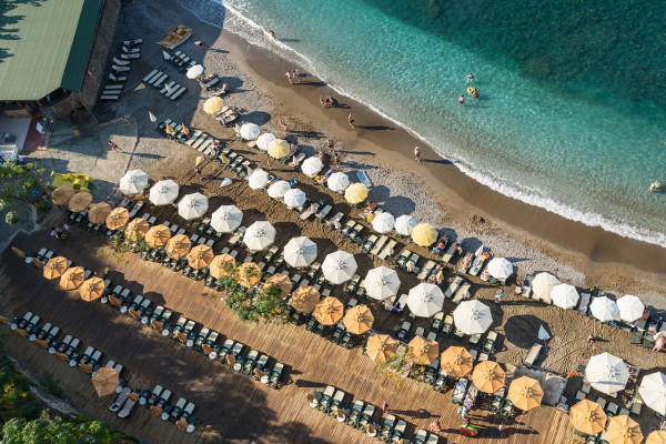 A beach in Alanya, Turkey.