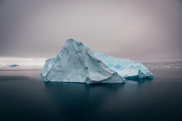 A floating iceberg.