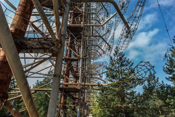 A part of abandoned Pripyat, near Chernobyl.