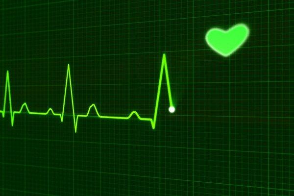 Heart beat on a digital screen