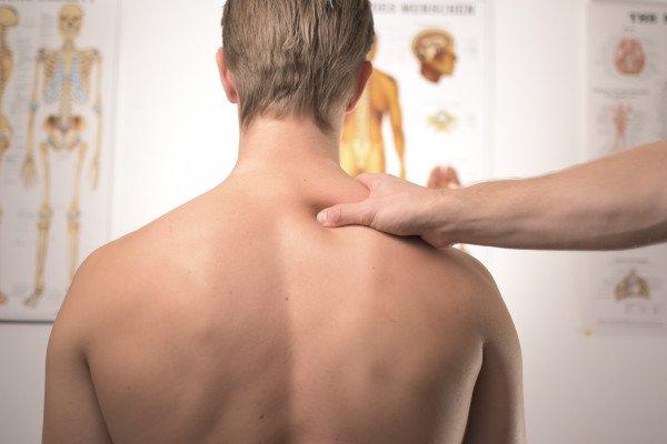 Man at physiotherapy