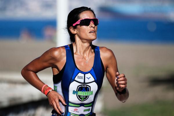 A track athlete training