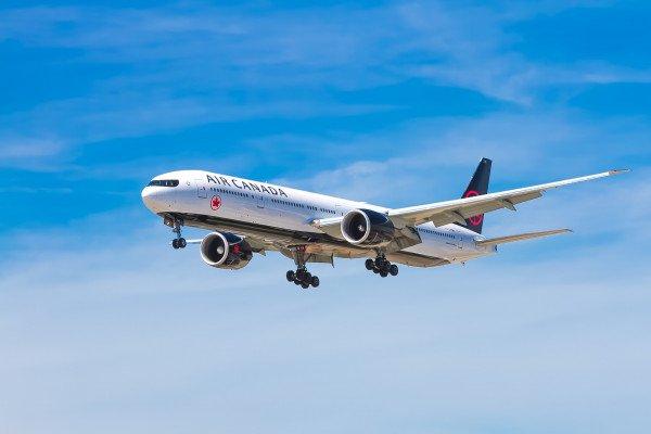 An aircraft in flight