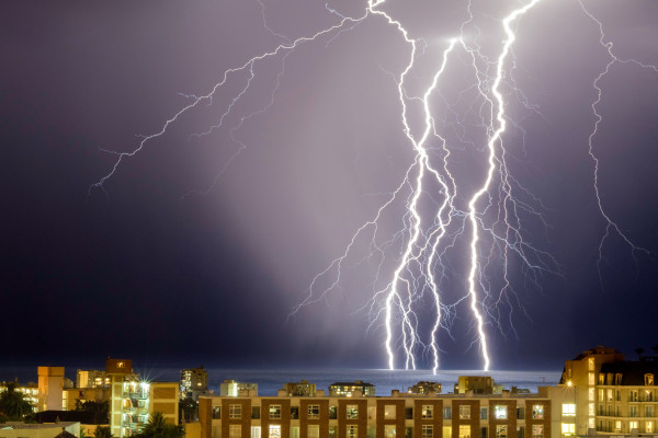 Lightning during a thunder / electrical storm
