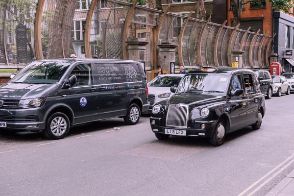 Black cab, in London