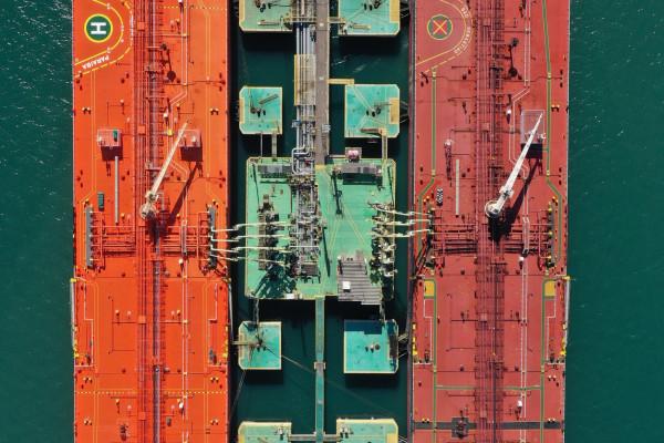 Shipping boats