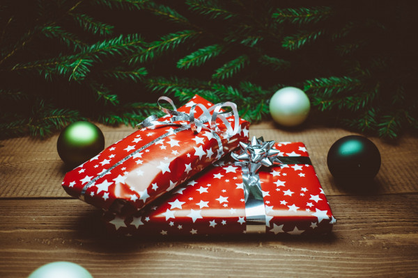 Presents under a tree