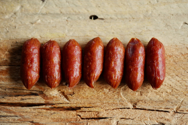 Sausages in a row