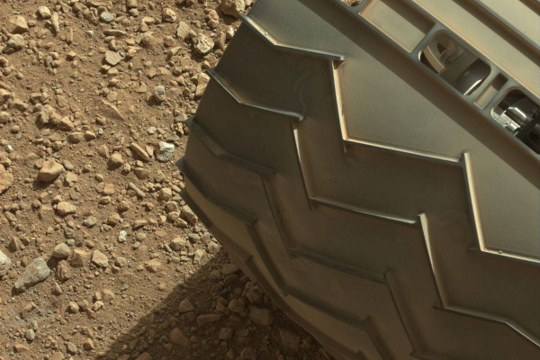 This image was taken by Mastcam: Left (MAST_LEFT) onboard NASA's Mars rover Curiosity on Sol 3 (2012-08-09 06:01:57 UTC) .