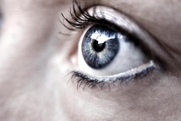 A photo of a human eye