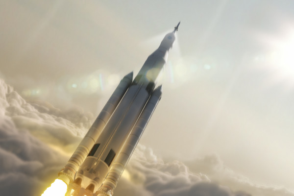 Artist concept of NASA's Space Launch System