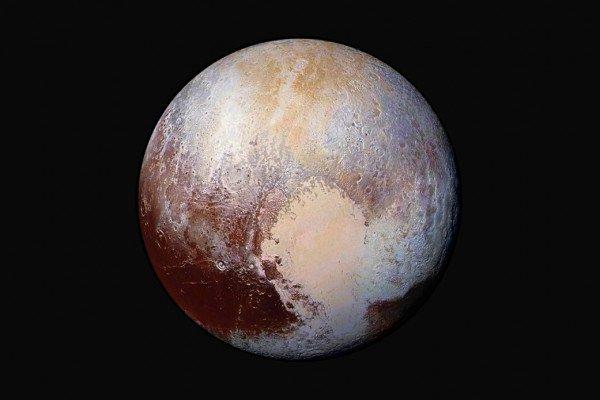 Pluto, in false colour
