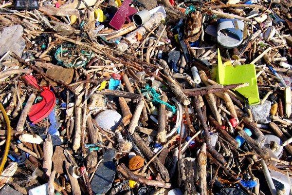 Plastic on the beach...