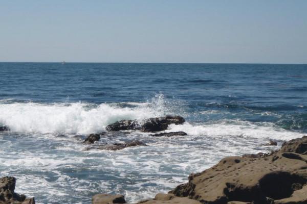 View of ocean from La Jolla California