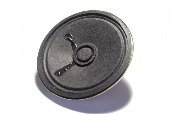 An inexpensive low fidelity 3.5 inch speaker, typically found in small radios