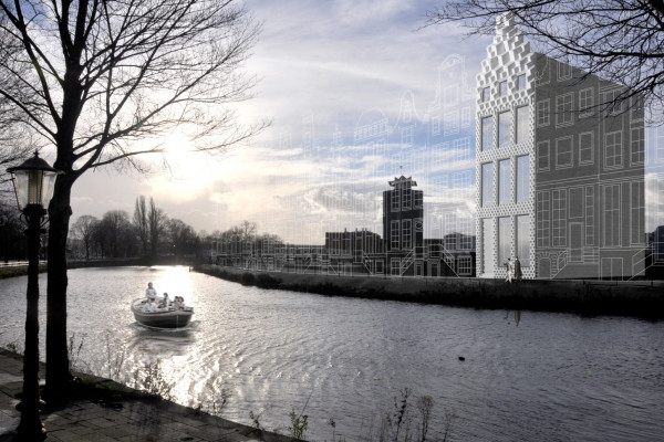The plan for the 3D printed canal house
