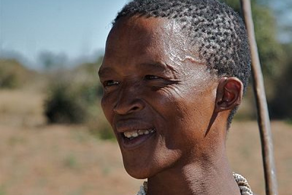 A San (Bushman) in Namibia