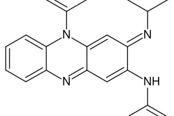 Structural diagram of clofazimine.