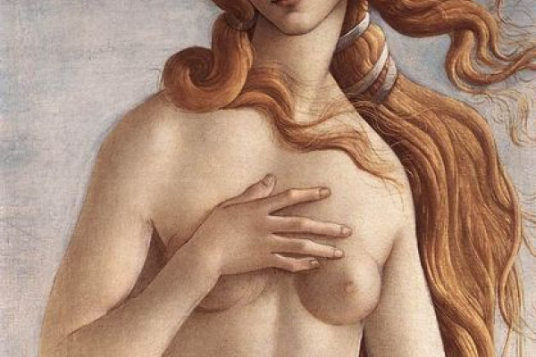 Detail from the 'Birth of Venus', 1485, Sandro Botticelli