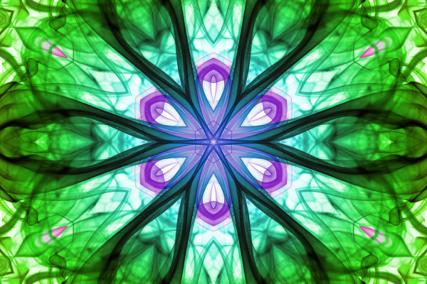 Abstract green design with psychedelic powerful energy colors.