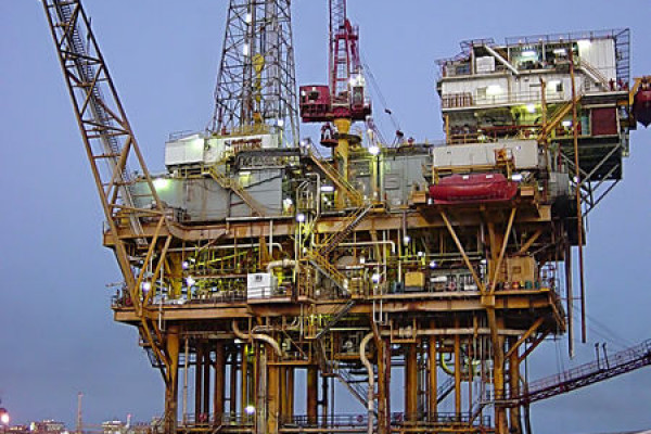 Offshore platform located in the Gulf of Mexico