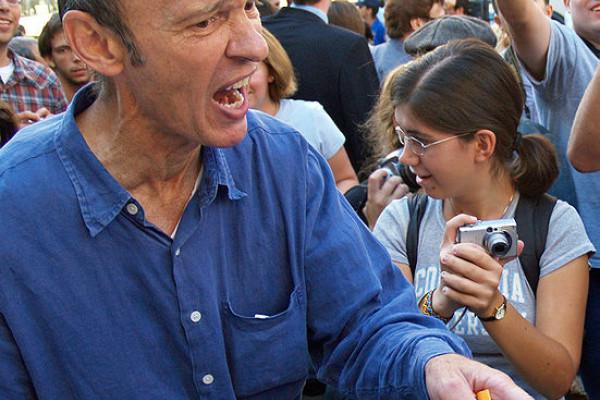 Protests surround Mahmoud Ahmadinejad at Columbia by David Shankbone.