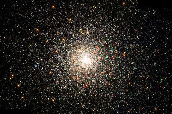 This stellar swarm is M80 (NGC 6093), one of the densest of the 147 known globular star clusters in the Milky Way galaxy. Located about 28,000 light-years from Earth, M80 contains hundreds of thousands of stars, all held together by their mutual...