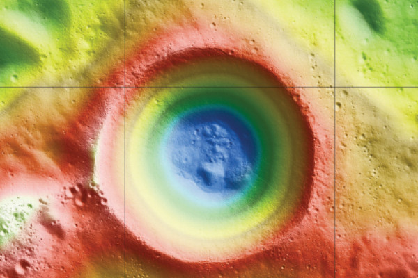 Height map of Shackleton Crater