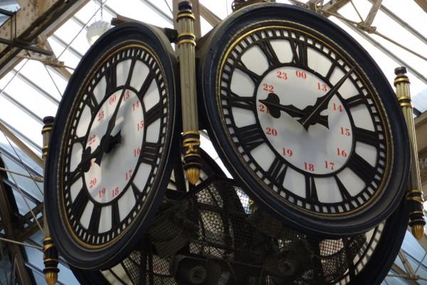 The Clock at Waterloo Station - London