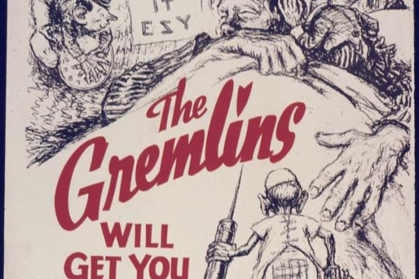 Gremlins US war poster