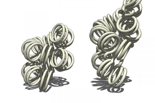 Two proposed structures of the 30nm chromatin filament.