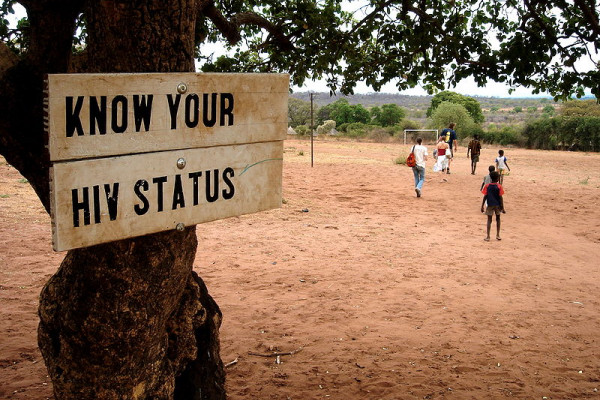 Sign: Know your HIV status in Zambia, Africa