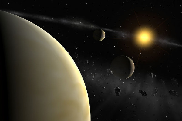The HARPS measurement reveal the presence of three planets with masses between 10 and 18 Earth masses around HD 69830, a rather normal star slightly less massive than the Sun.