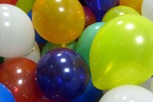 A pile of inflatable balloons.