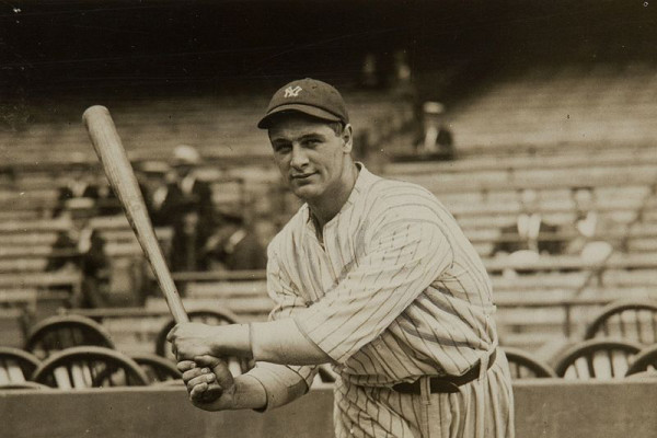 Lou Gehrig in his new uniform of the New York Yankees, June 1923