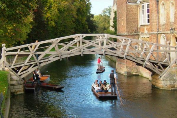 Mathematical Bridge at Queens' college Cambridge
