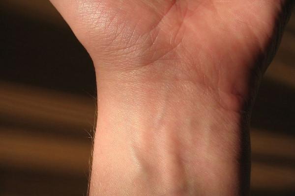 Human wrist - showing veins