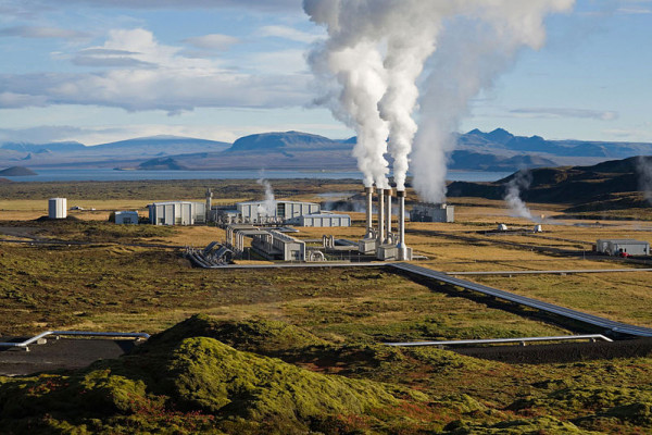 The Nesjavellir Geothermal Power Plant in Iceland